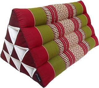 Coussin Lombaire livasia Si/ège dAppoint Rembourrage en Kapok Repose-Pieds Tissu Tha/ï 40 x 40 x 40 cm Pouf Cube