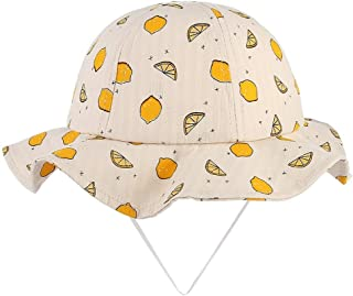RoyalDS Fashion Spring and Summer boy Girl Lemon Print Sunscreen Fisherman hat Cute Sun hat Size 50CM (Color : 2, Size : 50)