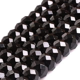 JOE FOREMAN 4x6mm Black Spinel Semi Precious Gemstone Rondelle AAA Grade Loose Beads for Jewelry Making DIY Handmade Craft Supplies 15