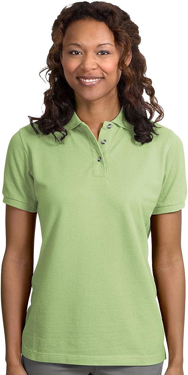 Port Authority - Ladies Pique Knit Polo Shirt. L420 - Pistachio - Medium
