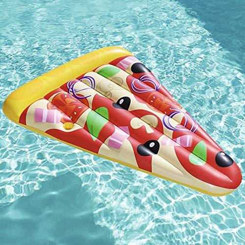ABCSS opvouwbare waterhangmat zwemband drijvend bed - pizza opblaasbare waterhangmat Float, volwassenen drijvend bed lounge stoel voor buiten zomer water partij PVC opblaasbare drijfveer voor zwembad