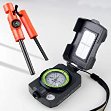 AOFAR 5-in-1 Fire Starter (2-Pack) and Multifunctional Military Compass for Camping, Hiking, Hunting, Backpacking