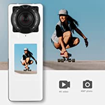360 VR Camera, Mini Camcorder 4K Video and 4MP Photos 360 Degree 2.0Inch Screen Panoramic VR Video Sport Action Camera Multiple Shooting Modes with Two Wide Angle Lens in Both Sides
