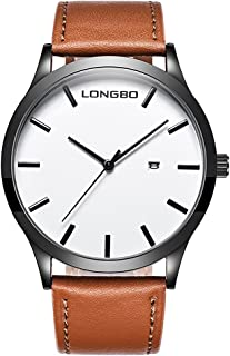 Gets Men Classic Watches Leather Strap Simple Dial Date Calendar Analogue Display Wrist Watch