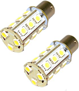 HQRP 2-Pack 1156 Ultra Bright LED Bulbs Cool White Compatible with John Deere AD2062R Parts Replacement JD LA115 D130 CS & CX Gator D110 GT235 L130 s240 X300 LT155 LA130 318 316 L110 GT245
