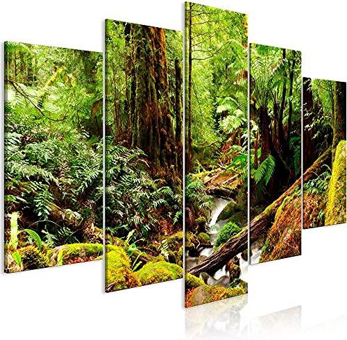 DFBSF Fem heminredning i trä canvasmålningar/landskap-30 x 40 cm 30 x 60 cm 30 x 80 cm/heminredningsmålningar, abstrakta målningar som används i sovrum, vardagsrum, babyrum, etc.