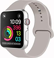 iDon Smart Watch Sport Band, Soft Silicone Replacement Sports Band compatible for iWatch Apple Watch Band Series 3/2/1,...
