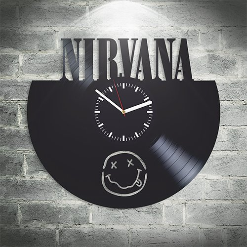 Nirvana Rock Band Music Fans, Kurt Cobain, Dave Grohl, Krist Anthony Wall Art, New Handmade Vinyl Wall Clock, Office Decoration For Bedroom, Best Gift For Him, Unique Design, Home Decor