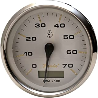 Faria 39040 Kronos Tachometer Gauge with Hourmeter 7000 RPM Gas Outboard-4