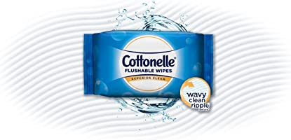 Cottonelle FreshCare Flushable Wipes for Adults, Wet Wipes, Alcohol Free, 336 Wet Wipes per Pack (Eight 42-Count...