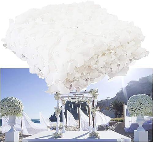 Filet De Prougeection Solaire pour Jardin, Filet De Camouflage Filet D'ombrage Auvents Blancs Filet De Camouflage pour Tentes Résistantes Au Feu (Taille   6  6M(19.7  19.7ft))