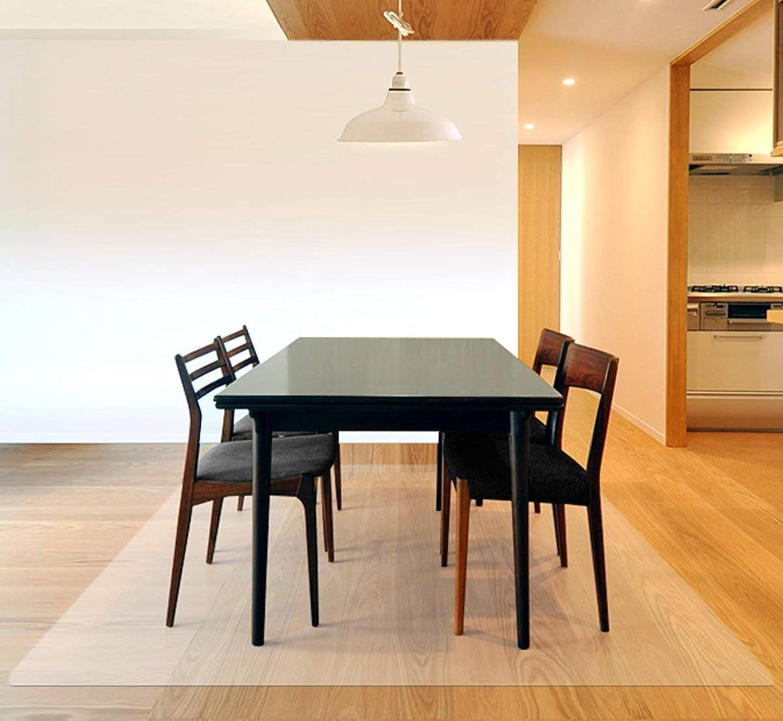デュアル燃やす変形するottostyle.jp 床を保護するダイニングマット クリア 240cm×180cm 厚さ1.5mm フローリングや畳のキズ防止に 食べこぼし キッチン 透明 食卓 料理 テーブル 撥水 カット可能