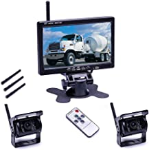 $79 » Hodozzy Wireless Backup Camera Kit, HD Color Night Waterproof Rear View Camera with 7″ TFT-LCD for Trucks Cars SUVs Pickup...