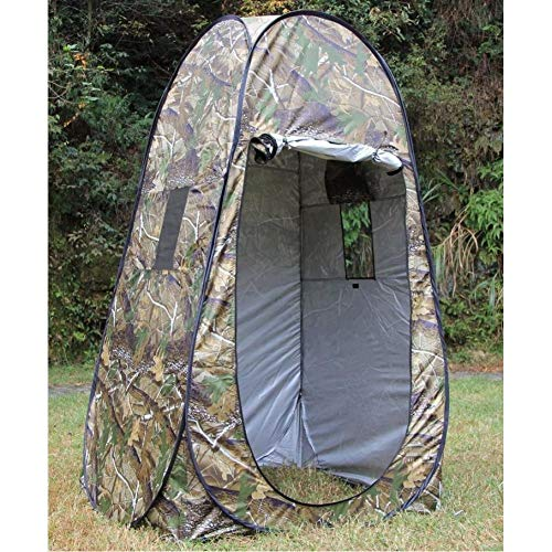 GOOHEAL Sichtschutzzelt, tragbare Duschtoilette Camping Pop-up-Zelt Tarnung/UV-Funktion Outdoor-Ankleidezelt/Fotografie-Zelt, 120 * 120 * H190Cm