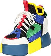 Cambridge Select Women's 90s Rave Hidden Wedge Extra High Chunky Platform Fashion Sneaker