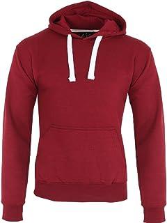 Parsa Fashions Mens Classic Hooded Sweatshirt Jumper Plain Pullover Hoodie Adult Top