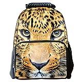 AnKoee Mochila Tiger Mochila de Leopardo para niños Animal Print Mochila Mochila Diaria Personalizada 29x17x41cm