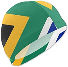 Sprutea National Flag The Republic of South Africa Personalized Fun Printing Design Kids Swim Cap Swim Hat Durable for Boys and Girls Fit for Children 3-12