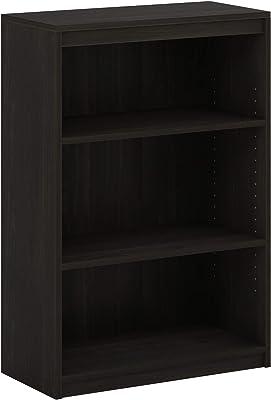 Furinno Gruen Bibliothèque à 3 Niveaux avec étagères réglables Espresso 29,7 x 62,3 x 91,2 cm 20107CC