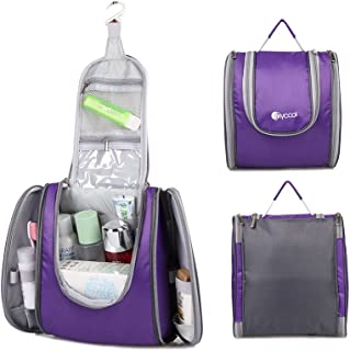 FLYCOOL Compact Water-resistant Nylon Hanging Toiletry Bag & Travel Shower Bag Purple