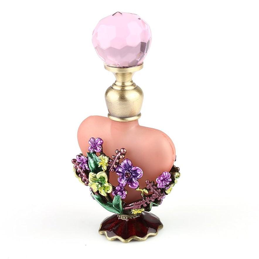 成長思われるドロップVERY100 高品質 美しい香水瓶/アロマボトル 5ML ピンク アロマオイル用瓶 綺麗アンティーク調フラワーデザイン プレゼント 結婚式 飾り
