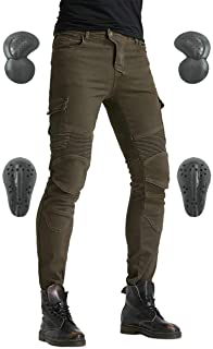 Men's Motorcycle Riding Pants Denim Jeans Protect Pads...