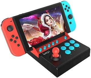 ニンテンドースイッチアーケードファイトスティック、デスクトップポータブルマシンゲームパッド、Nintendo SwitchおよびLite用のストリートファイティングゲームコントローラジョイスティックゲームパッド (赤/黒)