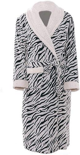 BATHROBEX Peignoir De Nuit pour Hommes en Robe De Nuit pour Hommes épaississant Section Longue Pyjama à Manches Longues Peignoir Service à Domicile pour Hommes, XL (170-186Cm)