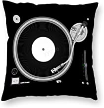 Decorative Pillow Covers Turntable Throw Pillow Case Cushion Cover Home Office Decor,Square 16 X 16 Inches