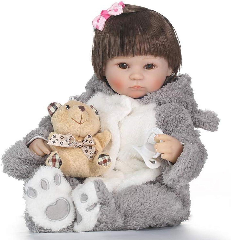 CHENG Lebensechte Rebornbaby-Puppen-Ganzkrper-Silikon-Real Touch-Augen ffnen Sich für Kindergeburtstag