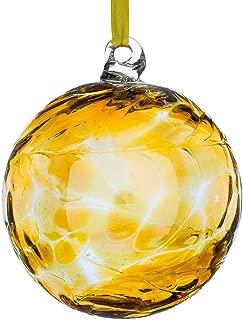 Sienna Birthstone Glass Friendship Ball November, Topaz. by Glass