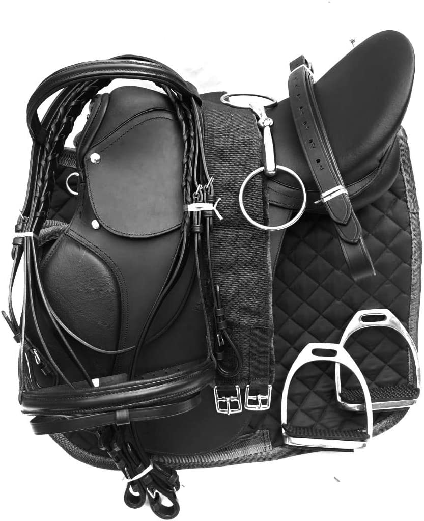 Lussoro Leather English Riding Horse Starter Saddle for Hors Arlington Mall Kit Translated