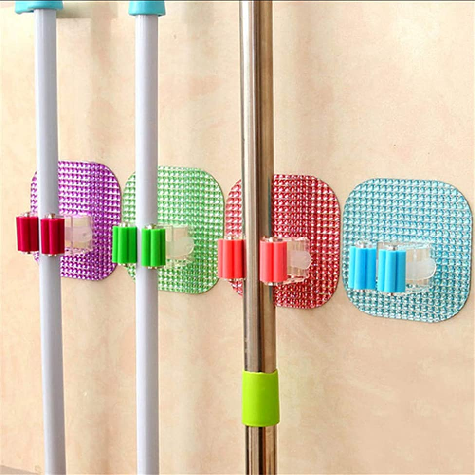 4PCS Wall Mounted Mop Organizer Holder Brush Broom Hanger Storage Rack Kitchen HOT Sale