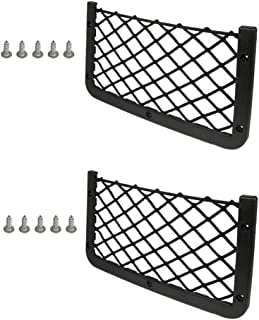JAVOedge [2 Pack], ABS Plastic Frame with Stretchable Mesh Net, Screws Included for Secure Fit in Auto, RV, Home, Marine