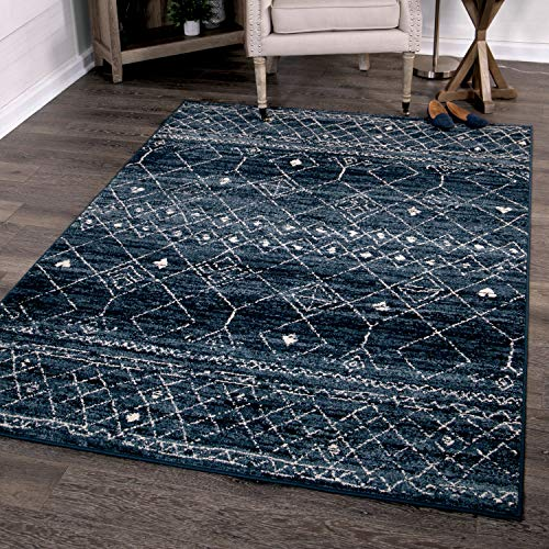 Orian Rugs Farmhouse Sonoma Collection 409987 Indoor/Outdoor Gabbeh Field Faded Area Rug, 5'2