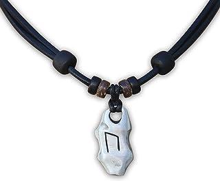 Silber Biohazard Edelstahl Anhänger Braun Leder Halskette Geflochten Herrenkette