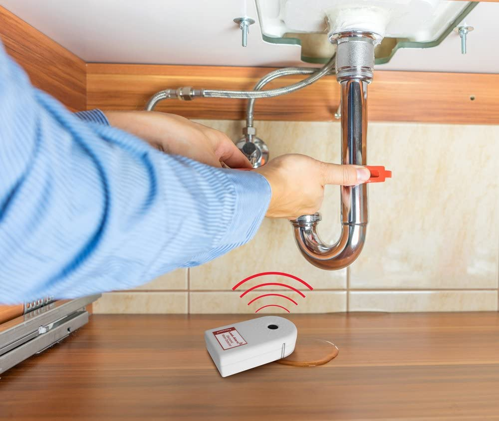 1 Pack Zircon 70382 Alert Detector /& Flood Water Sensor with Dual Leak Alarms 90Db Audio Powered-Batteries Not Included