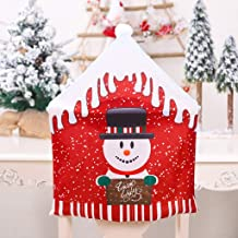 XMYIFOR Christmas Decoration Chair Covers Dining Seat Santa Claus Home Party Decor