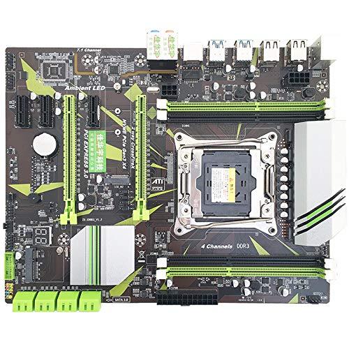 RONSHIN X99 Computer Moederbord DDR3 4-kanaals geheugen LGA2011-3-pin E5 CPU Ondersteuning M. 2 Large Board V3