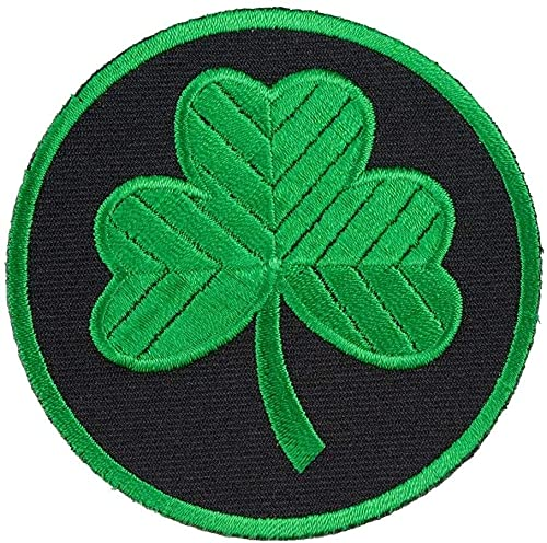 Patch Green & Black Shamrock Patches US Army Sew Iron on Embroidered Applique Patches Logo Emblem Military Tactical Morale Untidet State
