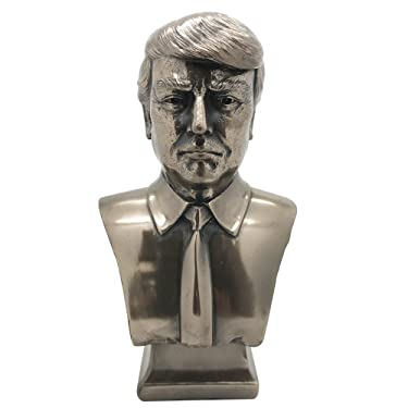 US President Donald J Trump Cold Cast Bronze Bust 7.5 Inches Tall Collectible Figurine