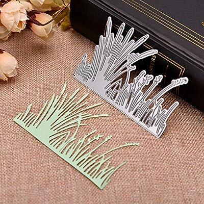 Calamus Grass Cutting Dies,Letmefun Metal Cutting Dies Stencils for DIY Scrapbooking Craft Die Cuts Easter Decorative Paper Photo Cards 10x6.9cm
