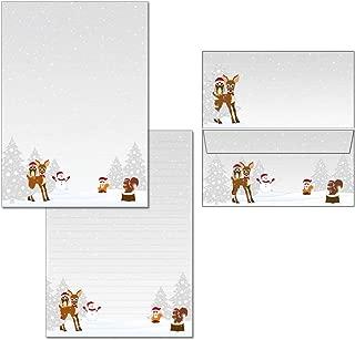20 Kuverts con copertina  1 Briefblock motivo decorato con papaveri 25 fogli Mappe 7420 Blocco per appunti formato DIN A4