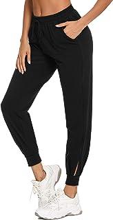 Aibrou Pantaloni Sportivi Donna, Cotone Pantaloni Jogger con Coulisse Pantaloni Piede del Fascio Casual Donne Pantaloni Sp...
