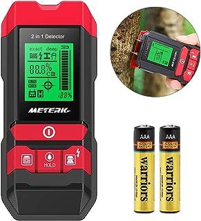 Stud Finder Sensor Meterk Wall Scanner - 4 in 1 Electronic Center Finder Multi-Functional Wall Finder Detector with LED/Sound Warning for Wood Stud/Metal/Live AC Wire/Moisture Detection