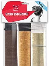 Hawwwy 3-Piece Hair Bun Maker, Easy Snap-and-Roll Bun Tool, Original Magic Bun Tool, Donut Hair, Perfect Bun Makers, French Twist Donuts for Updos Kids Women Ballerina Bun Shaper (Brown Blonde Copper)