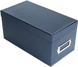 JackCubeDesign CD Case Storage Box Case DVD Organizer Holder with 50 Cases(Navy, 5.8 x 10.9 x 5.4 inches)-MK226A