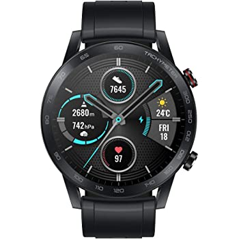 "HONOR Magic Watch 2 Smart Watch 1.39"" AMOLED Display Bluetooth Call Activity Tracker 5ATM Waterproof 14days Battery Life Sport Smartwatch with Mic for Women Men (Charcoal Black)"