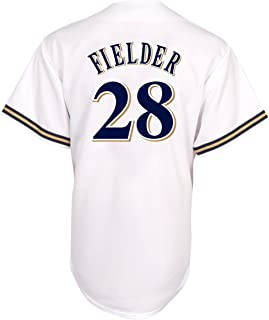 MLB Prince Fielder Milwaukee Brewers Youth Replica Home Jersey
