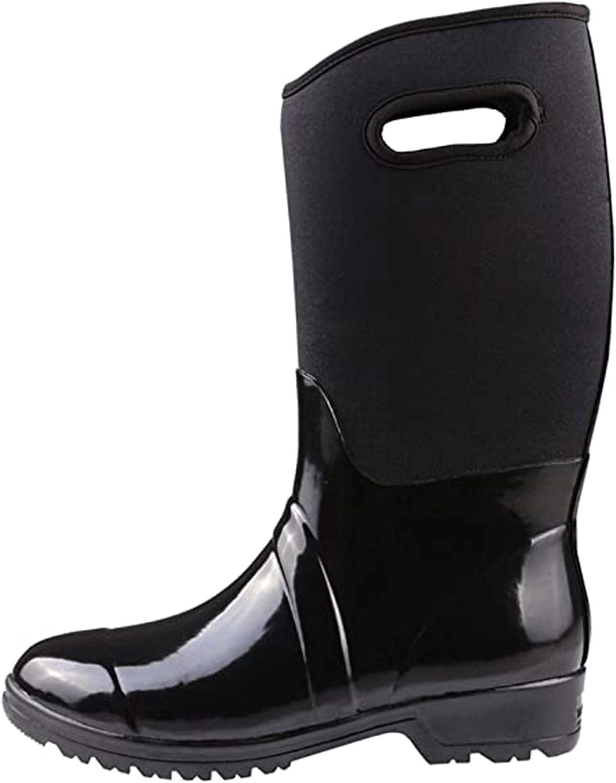 Womens Slip Resistant Water security Boots Max 84% OFF Easy-On Rain Neopren